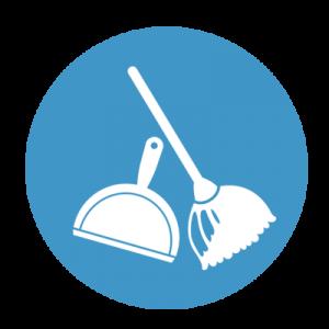 Semtuvėliai, šluotelės ir dulkių valymo įrankiai